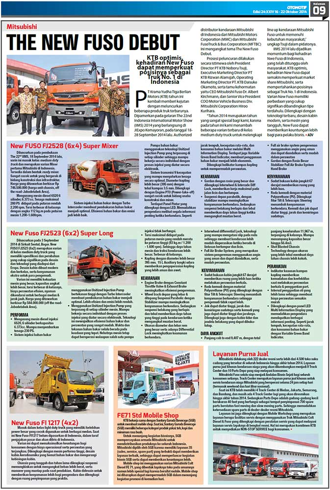 THE NEW FUSO DEBUT (TABLOID OTOMOTIF)